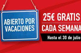 25 euros gratis cada semana