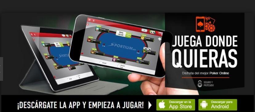 aplicacion poker sportium