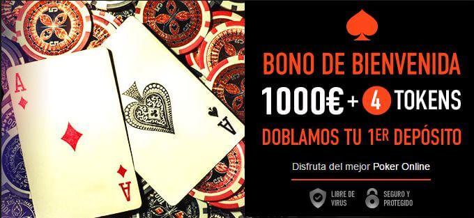 bono bienvenida poker sportium